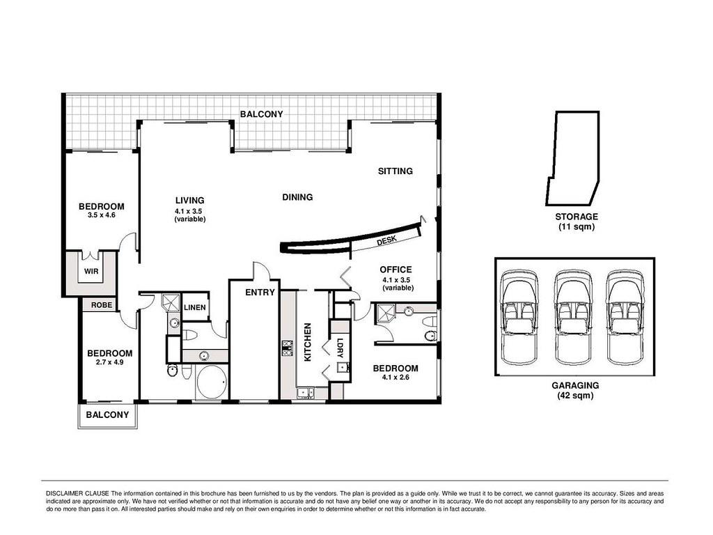 Floorplan for 19 11 elamang avenue kirribilli nsw 2061 for Kirribilli house floor plan