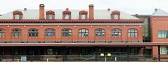 Cumberland MD ~ 1913 station - HFF! (karma (Karen)) Tags: cumberland maryland alleganyco railroad stations roofs windows chimneys fences fencefriday hff nrhp