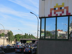 Space Invader PA_1110 (tofz4u) Tags: streetart paris bus portugal car tile football coach traffic mosaic spaceinvader spaceinvaders voiture invader finale 75012 trafic mosaque stadedefrance artderue prif quipedefoot euro2016