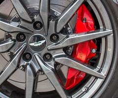 Caliper (No9 (Tony)) Tags: show red wheel newcastle martin brake motor aston alloy caliper db11 canoneos100d
