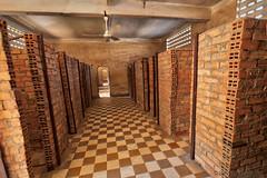 047-Cambodia (Beverly Houwing) Tags: school brick cambodia classroom hallway communism torture phnompenh isolation cells hdr imprisonment s21 interrogation khmerrouge tuolsleng polpot kampuchea genocidemuseum
