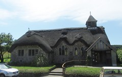 St. Agnes, the thatched church of Freshwater Bay  (1908) (cohodas208c) Tags: church architecture architect 1908 thatched stagnes churchofengland freshwaterbay isaacjones hallamtennyson