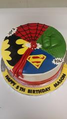 Superhero Cake (dragosisters) Tags: spiderman superman batman hulk cake superhero