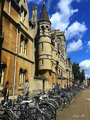 Streets of Oxford (Nina_Ali) Tags: oxford architecture university bikes iphone6s 2016 summer england ninaali