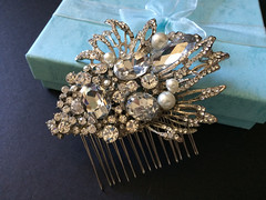 Victorian style Swarovski rhinestones crystals and pearls wedding bridal hair comb (weddingvalle) Tags: victorian hair comb headpiece rhinestones crystals pearls brides bridal wedding party fashion style prom statement gift romantic sparkle handmade weddingvalle magazine