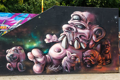 Deeffeed - Creatures (Dutch_Chewbacca) Tags: graffiti berenkuil eindhoven rockcity art 040 noordbrabant netherlands dutch holland spray can colors canon dlsr sigma 23 july 2016 summer saturday weekend pretty street legal creatures deeffeed