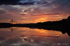 Sunset and red sky (mythicalireland) Tags: drogheda sunset redsky boyne river landscape
