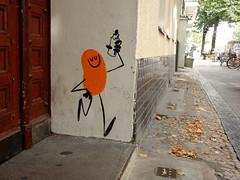 Bean and marker (aestheticsofcrisis) Tags: street art urban intervention streetart urbanart guerillaart graffiti graffity berlin germany europe kreuzberg xberg davethechimp