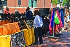 Dartmouth Street Racks (AntyDiluvian) Tags: boston massachusetts backbay street market vendor dartmouthstreet newburystreet racks displays jewelry crafts clothing