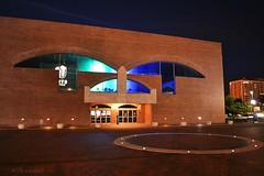 The Arts United Center (ilovecoffeeyesido) Tags: artsunitedcenter fortwaynein ftwaynein louiskahn fineartsfoundation architecture nighttime nightshot availablelight 1973