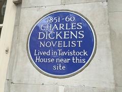 Charles Dickens Bloomsbury plaque (Matt From London) Tags: charlesdickens 1851 1860 plaque tavistocksquare