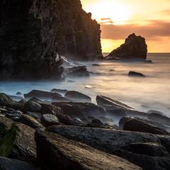 Rare Square (Explored) (RattyBoots) Tags: valleyoftherocks devon beach longexposure leebigstopper silkywaves sunset boulders splash landscape seascape squareformat canon5d3 canon24105