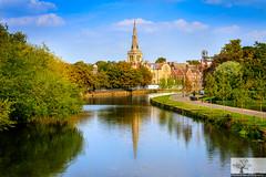 From The County Bridge (Rob Felton) Tags: stpaulschurch bedford bedfordshire river greatouse felton robertfelton countybridge prebendstreet cloud reflectiom blue sky canon canoneos7d