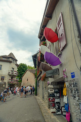 20160730-DSC_7905 (Mivr) Tags: france yvoire umbrella colored colorful joyful weekend street ol