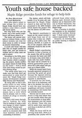 Youth Safe House NEWS 2004-11-13 p5 (Maple Ridge Museum & Archives) Tags: mapleridge homeless homelessness shelter