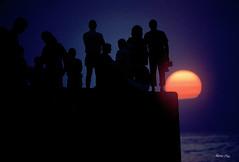 waikiki wall sunset (skellum) Tags: hiroshimori skellum imagevulture skellumvsimagevulture honolulu oahu hawaii retrohawaii retrohonolulu waikikiwall waikikisurf hiddenhawaii waikikisunset waikikiwallsunset hawaiisunset