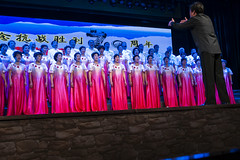 Pink Choir (oz_lightning) Tags: asia china huzhutuautonomouscounty people qinghai sonyrx100iii weiyuantown concert culture interior weiyuanzhen chn