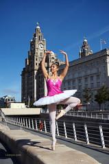 DSC06390 (liverpix) Tags: cleo dog performing anthonywalsh photowalk 500px liverpool pierhead liverbuilding ballerina ballet