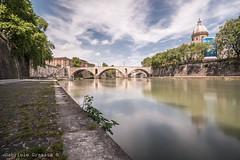 DSC_4517 (Gabriele Granata) Tags: longexposure bridge sky italy rome roma river nikon italia nd d610