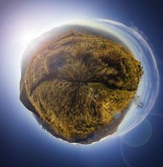 Cima Mares 360 (mr.martino) Tags: sunset panorama mountain nature canon landscape pano fisheye lensflare 360 tinyplanet samyang canon60d cimamares