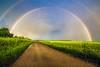 Alsace - Arc-en-ciel (cesbai1) Tags: blue france green yellow rainbow alsace soir fr arcenciel wihr horbourgwihr wihrenplaine