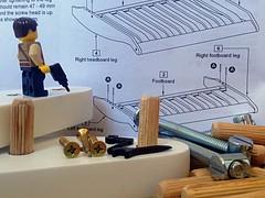 Flat-pack Frenzy (156/365) (robjvale) Tags: hammer screw diy bed lego furniture bolt nut flatpack screwdriver assembly spanner adventurerjoe