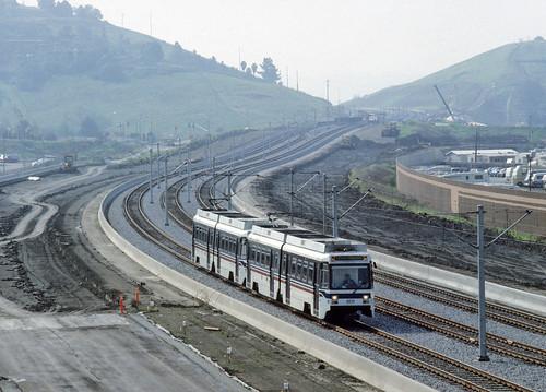 VTA Light Rail In San Jose, CA In March 1992