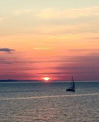 (sarabalducci500) Tags: sea sun boat barca tramonto mare colours sole arancio paesaggio ancona barcaavela tramontosulmare
