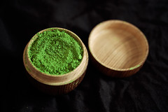 Matcha for breakfast (mkniebes) Tags: green texture breakfast dark relax wooden pattern dof open tea bokeh fresh zen match relaxation relaxed uji teacaddy ujitawara fujinonxf60mm