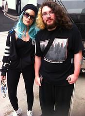 Halsey and I! (TheSamuelYears) Tags: blue music winnipeg singer bluehair musican halsey wpg smokemirrorstour ashleyfrangipane
