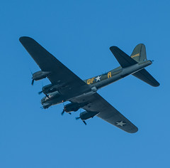 Boeing B17 Flying over my garden in Hertfordshire on way to Duxford: (adamnsinger) Tags: world 2 st flying war aircraft b17 ww2 boeing propeller fortress albans prop hertfordshire michaels