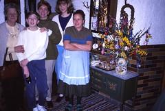 West Germany    -   Schnnau am Knigssee   -    Gstehaus Aschbachhof    -    Oma, Jeb, Me, Jessica & Frau Springl    -    April 1990 (Ladycliff) Tags: westgermany schnnauamknigssee gstehausaschbachhof oma jeb barbara jessica frauspringl