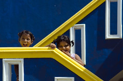 (Kals Pics) Tags: kids girls friends sisters portrait happiness smile cute innocence cuteness cwc chennaiweelendclickers roi rootsofindia blue yellow stairs steps home house colorsofindia coloursofindia incredibleindia pattern abstract laugh happy lovely indianvillages ruralpeople villagelife ruralindia villagepeople rurallife kalspics lightandlife lightandshadow tamilnadu india kalpakkam solaikuppam kunnathur poondhandalam