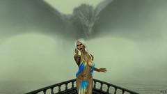 The Dragon and the Beauty (alexandra wardark) Tags: subtlefogvoguecolordefaultcolors secondlife sl fantasy dragon silks