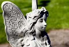 Angel - Neli's Dutch Village - Holland Michigan (Meridith112) Tags: angel statue cement holland mi michigan ottawacounty midwest nikon nikon105 nikond750 spring 2016 shadows shadow shade nelisdutchvillage dutchvillage jamesstreet may
