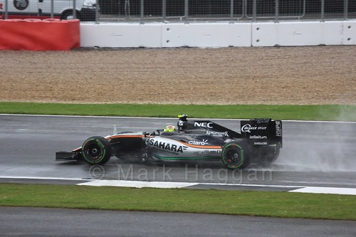Sergio Perez during the 2016 British Grand Prix