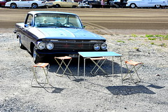 Gone. (Papa Razzi1) Tags: 7627 2016 219365 chevrolet v8 impala ht 1961 summer august picknick disappear bar wheelsnationals2016