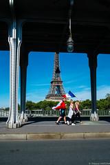 Fr3nch 2 (Maestr!0_0!) Tags: street bridge people paris tower xpro fuji tour euro flag eiffel pont rue bir drapeau 2016 hakeim