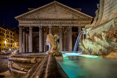 Night at the Pantheon (cpphotofinish) Tags: marcus agrippa square eos eos5dmk3 roma rome tourist turist travel usm image italy outdoor outside photo foto light lazio canon canonef canonredlable bilde mklll mk3 mark cpphotofinish italia carstenpedersen pantheon santangelo bridge via del corso streetphoto street ef24105mmf4lisusm night nightphoto patheon