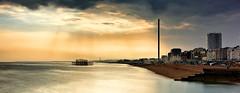 Brighton Monolith (Solent Poster) Tags: seascape beach landscape brighton pentax 1685mm k3ii