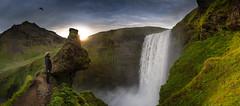 Skgafoss (JoshyWindsor) Tags: iceland sunset skgafoss landscape waterfall travel nature scenic michellewindsor canonef1740mmf4l skogar canoneos6d europe holiday panorama