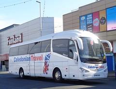 YN65XDH Caledonian Travel on the move along Blackpool Promenade (j.a.sanderson) Tags: yn65xdh caledonian travel move along blackpool promenade scania k360eb4 irizar i6 huntersofalloa hunters alloa caledoniantravel coiach coaches