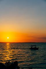 Sunset On The Coast (Simone Della Fornace) Tags: cuba cuban cienfuegos sony a7rii sunset boat sea water sky travel beach blue sun light coast ocean outdoor tourism beautiful summer marina
