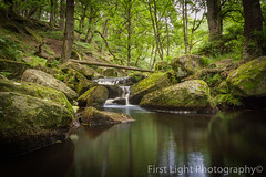 Padley Gorge - Peak District (First_Light_Photography) Tags: padley gorge peak district derbyshire waterfall water green trees long exposure