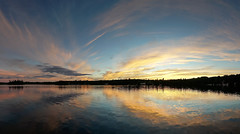 'Oh My!' (Canadapt) Tags: sunset lake reflection clouds shoreline silhouette sundown pattern x keefer canadapt