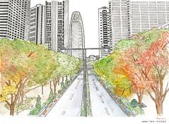 Japan Tokyo ( ) Tags:   illustration watercolor japan urban sketch      sketches painting    tokyo