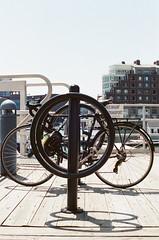 Bike Rack in Boston (Rachael.Robinson) Tags: boston urban bikes wheels bike rack spokes