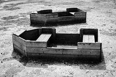 Dry boats on a dry lake, Tyntesfield (Mike*T*) Tags: tyntesfield bristol uk victorian gothic revival bw black white boat dry lake woode