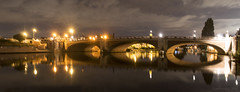 when the stars come out at night (lunaryuna) Tags: hamptoncourt england surrey riverthames hamptoncourtbridge bridge architecture arches nightlights nughtphotography nocturnalphotography river reflections seeingdouble mirrorworlds bridgelights beauty design urbanlandscape panorama panoramicviews summer season seasonalwonders lunaryuna le longexposure