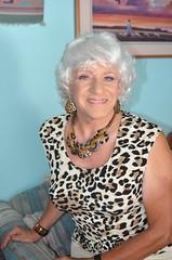 If Nothing Else . . . (Laurette Victoria) Tags: laurette woman silver animalprint necklace